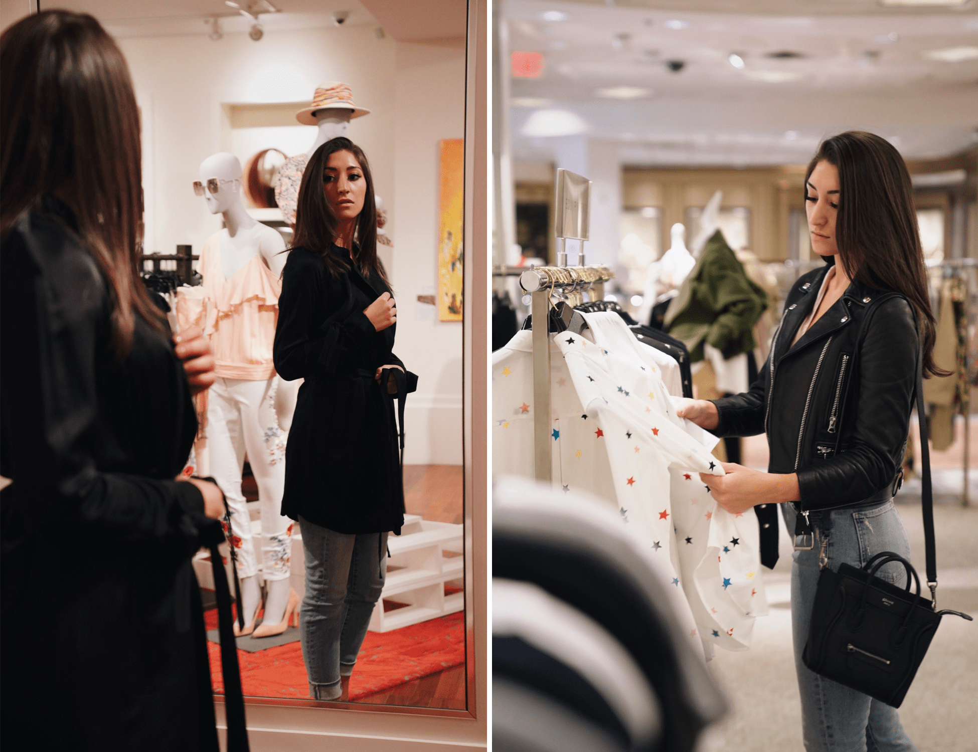 In addition to Neiman Marcus, Kira also stopped into their more edited, boutique concept shop, CUSP by Neiman Marcus. There, she discovered a variety of versatile pieces that will serve her well no matter where her travels take her.